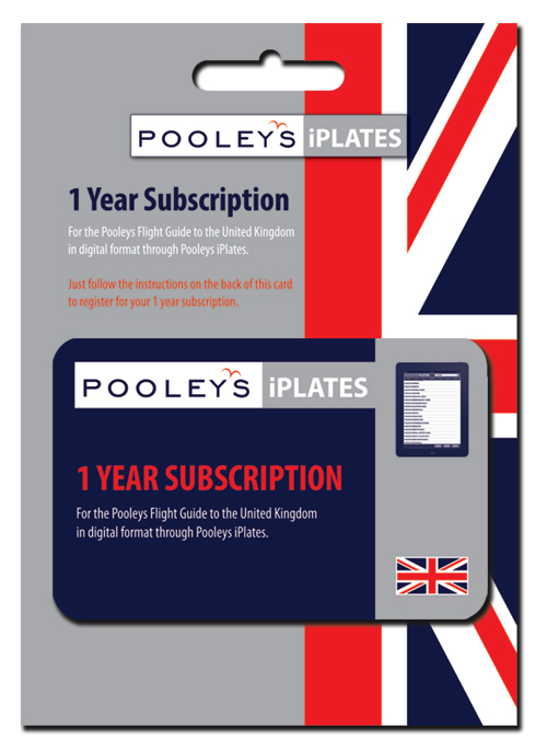 Pooleys UK  iPlates 1 Year Subscription CardImage Id:154802