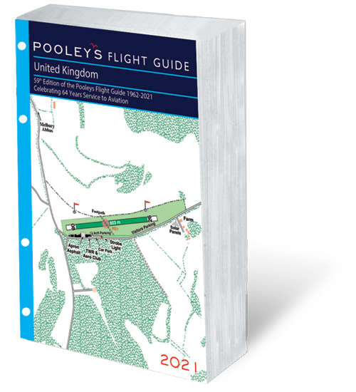 Pooleys 2021 United Kingdom Flight Guide – Loose-leaf Insert