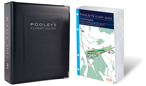 Pooleys 2021 United Kingdom Flight Guide – Loose-leaf with Binder