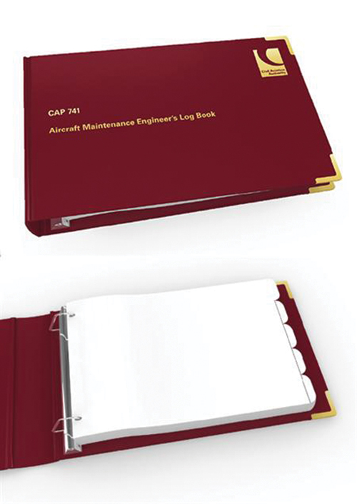 CAP 741 Aircraft Maintenance Engineer's Log Book + Binder