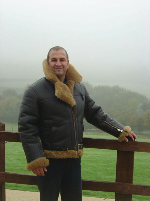 Sheepskin Leather Flying Jacket