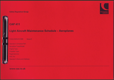 CAP 411 - Light Aircraft Maintenance Schedule (Aeroplanes)