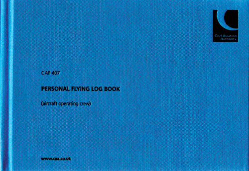 CAP 407 - Personal Flying Log Book (aircraft operating crew)