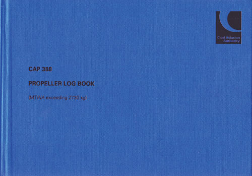 CAP 388 - Propeller Log Book (MTWA exceeding 2730 kg)