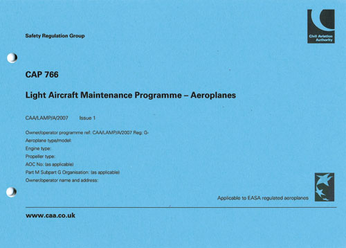 Cap 766 Light Aircraft Maintenance Programme (a)