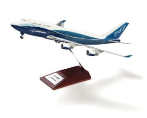 Boeing 747-8 Snap-Together Model with Wood Base
