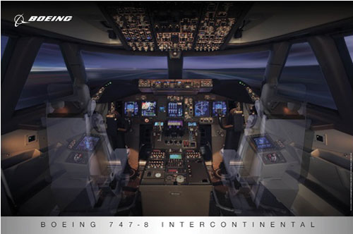 Gifts boeing merchandise boe115 boeing 777 flight deck poster view this product fandeluxe Image collections