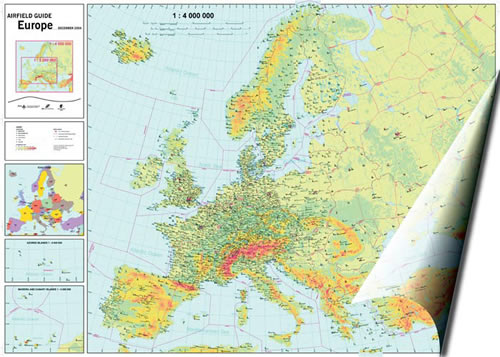 Airfield Guide Europe Wall Chart - 7th EditionImage Id:42518