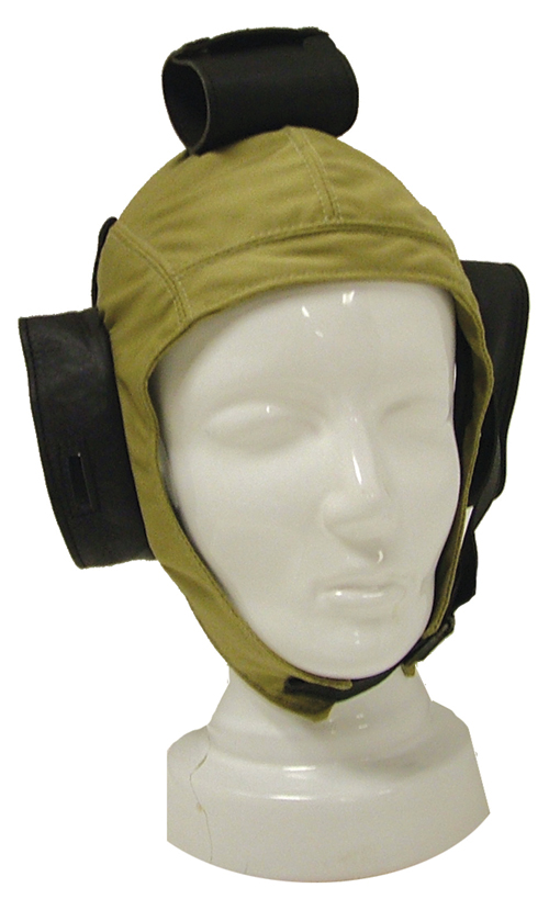 Flying Helmet - Cotton with Leather trim