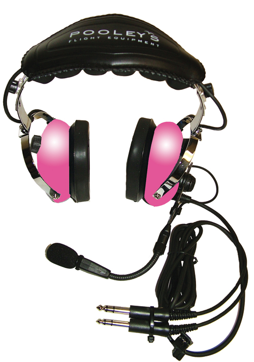 Pooleys Passive Pink Headset + FREE Headset Bag