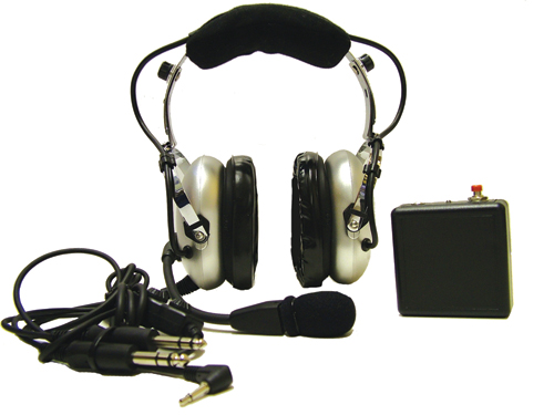 Pooleys ANR Headset for Helicopter Pilots + FREE Headset Bag