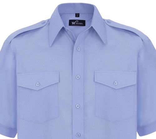 Blue Pilot Shirts - Pooleys