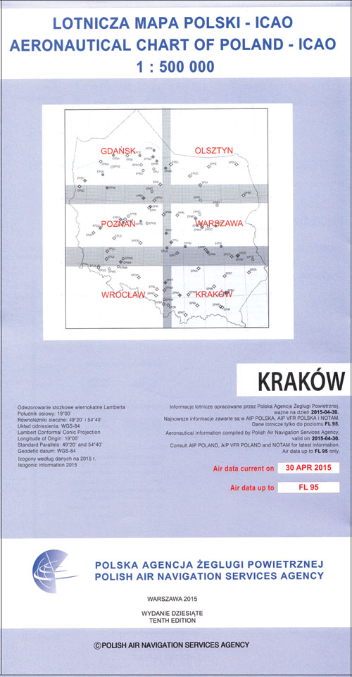 Charts poland ich406 poland northwest vfr 500 chart edition view this product sciox Images