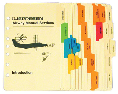 Set of Sectional Tabs - Jeppesen (10011298)