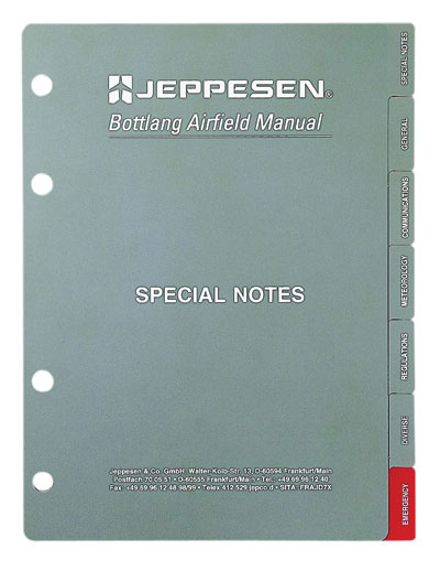 Jeppesen VFR Sectional Tab Set