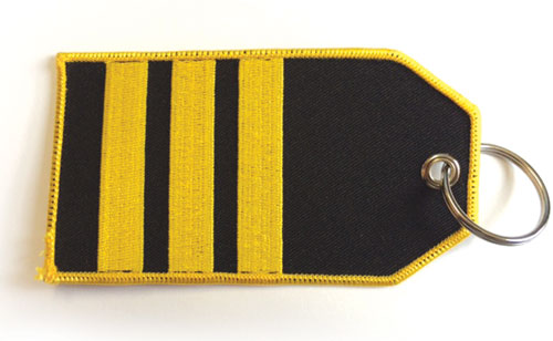 III Bar Epaulette – Baggage Tag / Key Ring