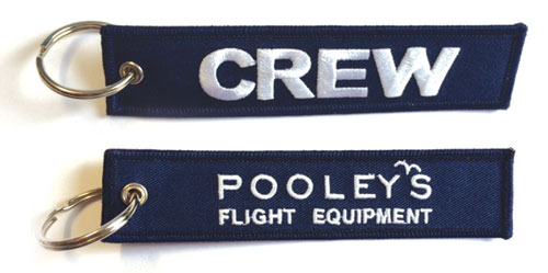 Pooleys CREW Keyring – Navy Blue