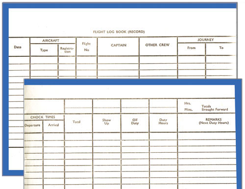 52ed3280e53 NLB050 Pooleys Stewardess Flight Log Book