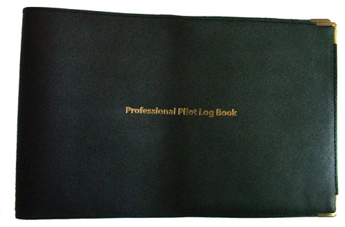 Leather Cover for Jeppesen Professional Pilots Log Book