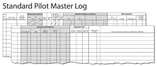 The Standard Pilot Master Log ASA-SP-6