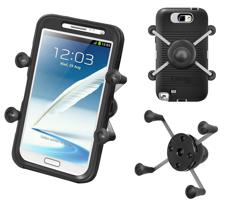 Holder. Universal X-Grip® IV for your phone or phablet with or without a case or skin - Ram Mounts