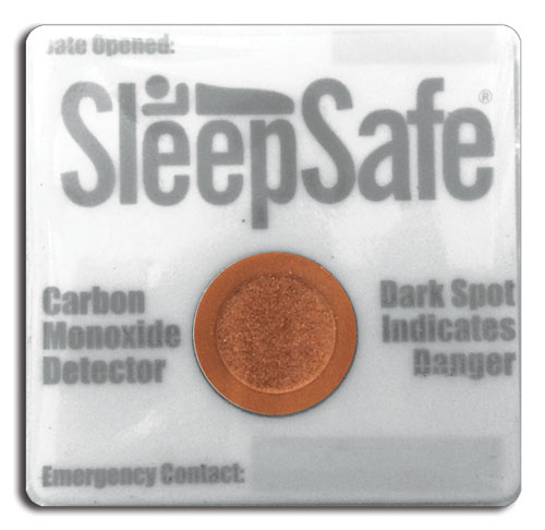Carbon Monoxide Detector - Single. On opening write expiry date (6 months time) on patch. - SleepSafe