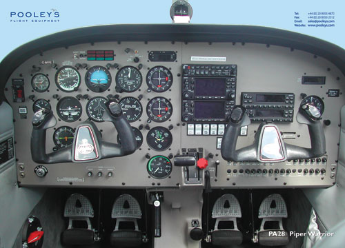Piper Warrior PA28 Cockpit Poster