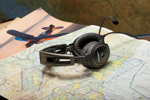 Bose A20 Helicopter Headset with U174 Plug, Non-Bluetooth, Coiled Cable, Hi Imp  (324843-R030)Image Id:47787