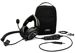 Bose A20 Helicopter Headset with U174 Plug, Bluetooth, Battery Powered, Straight Cable, Hi Imp. (324843-3030)Image Id:47805