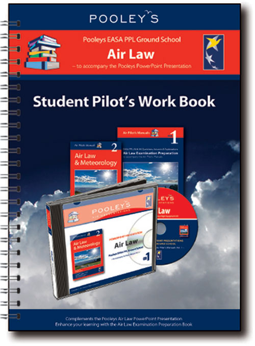 Pooleys Air Presentations – Air Law Student Pilot's Work Book (b/w with spaces for answers)