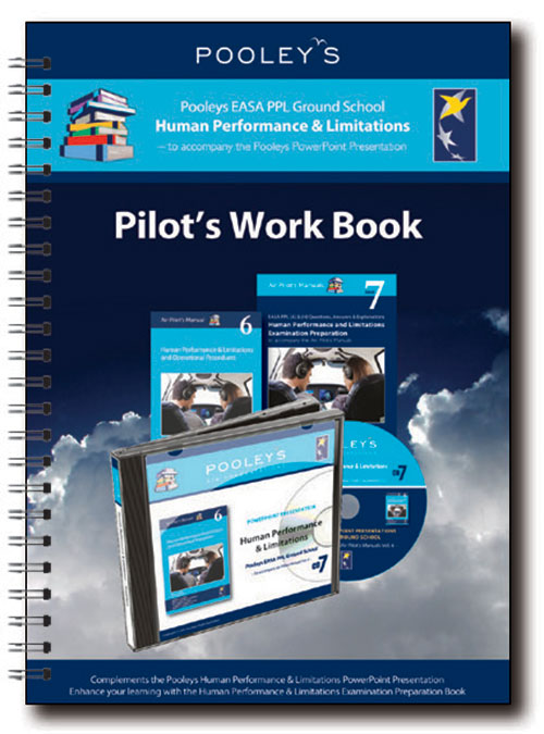 Pooleys Air Presentations – Human Performance & Limitations Instructor Work Book (full-colour)
