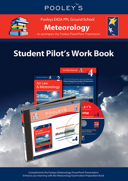 Pooleys Air Presentations – Meteorology Student Pilot's Work Book (colour with spaces for answers) - Pooleys