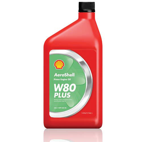Aeroshell Oil W80 PLUS (1 US Quart) - Aeroshell