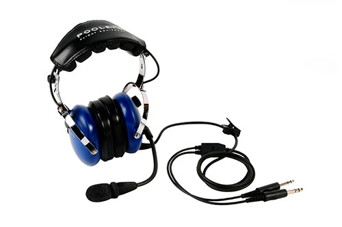 Pooleys Aviation Headset - Passive (blue ear cups) + FREE Headset BagImage Id:121898