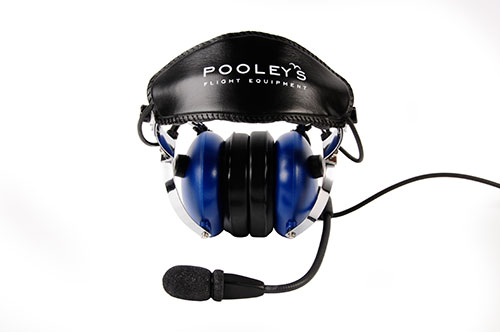 Pooleys Aviation Headset - Passive (blue ear cups) + FREE Headset BagImage Id:121899