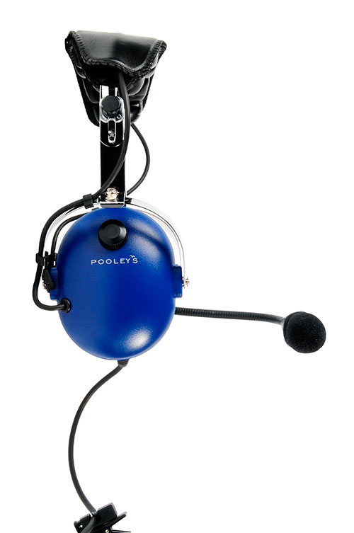 Pooleys Aviation Headset - Passive (blue ear cups) + FREE Headset BagImage Id:121900