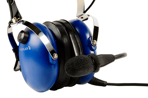 Pooleys Aviation Headset - Passive (blue ear cups) + FREE Headset BagImage Id:121902