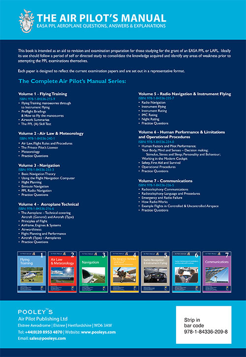EASA PPL Q&A Explanation Books   Pooleys EASA Q&A Books 1-9