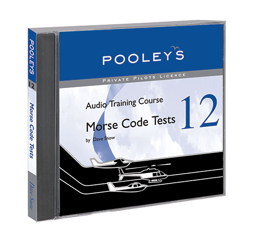 Private Pilot's Licence – No. 12 Morse Code Tests CD - Pooleys