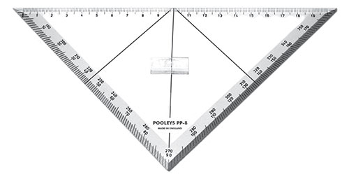 PP-8  Triangular Track Line Protractor - Pooleys