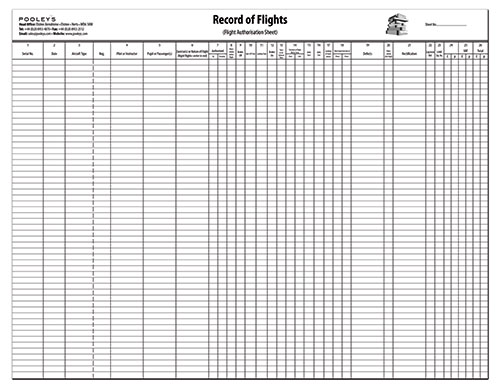 Record of Flights Operation Pad with HOBS columnImage Id:122584