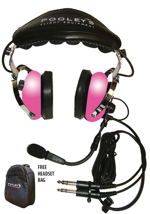 Pooleys Passive Headset for Helicopter Pilots + FREE Headset BagImage Id:123752