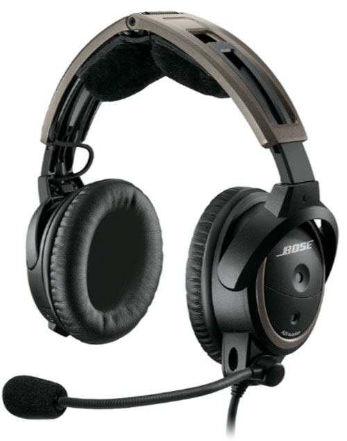 Bose A20 Helicopter Headset with U174 Plug, Non-Bluetooth, Coiled Cable, Hi Imp  (324843-R030)Image Id:126668