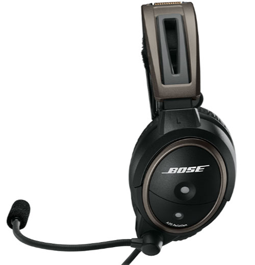 Bose A20 Helicopter Headset with U174 Plug, Non-Bluetooth, Coiled Cable, Hi Imp  (324843-R030)Image Id:126672
