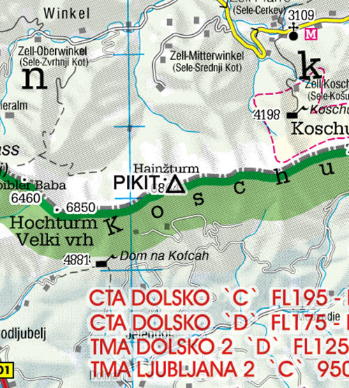2021 Slovenia VFR Chart 1:200 000 - RogersdataImage Id:126766