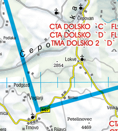 2021 Slovenia VFR Chart 1:200 000 - RogersdataImage Id:126768