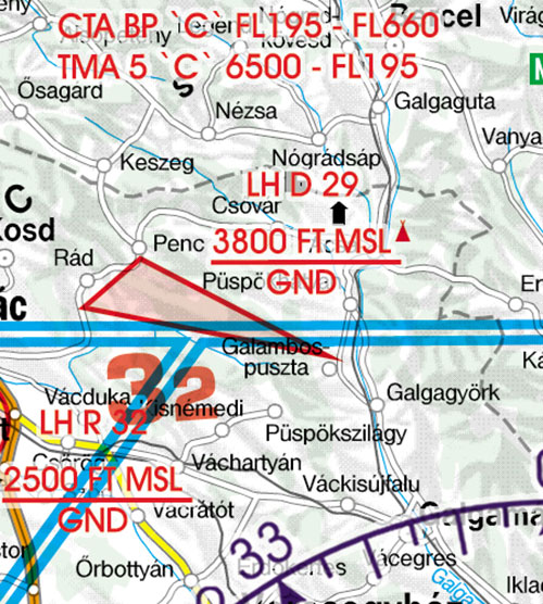 2020 Hungary VFR Chart 1:500 000 - RogersdataImage Id:126832