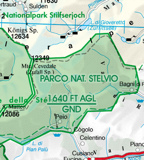 2020 Italy Centre VFR Chart 1:500 000 - RogersdataImage Id:126841