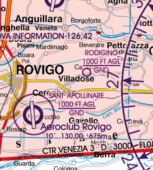 2020 Italy Centre VFR Chart 1:500 000 - RogersdataImage Id:126844