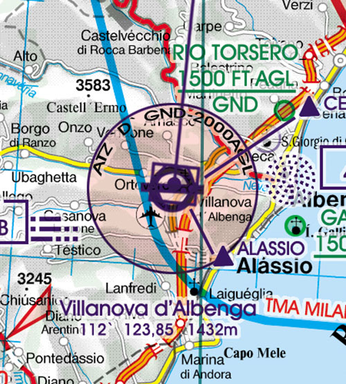 2020 Italy Centre VFR Chart 1:500 000 - RogersdataImage Id:126856